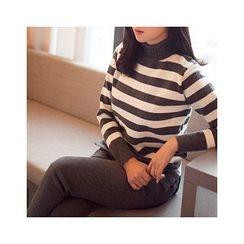 MASoeur - Mock-Neck Stripe Sweater