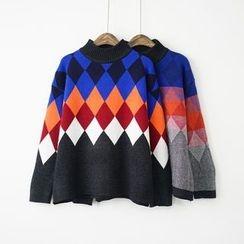 Polaris - Argyle Thick Sweater