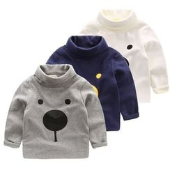 lalalove - Kids Animal Turtleneck Sweatshirt