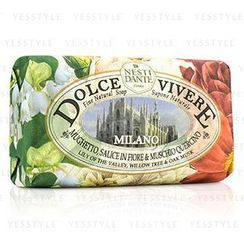 Nesti Dante - Dolce Vivere Fine Natural Soap - Milano - Lily Of The Valley, Willow Tree and Oak Musk