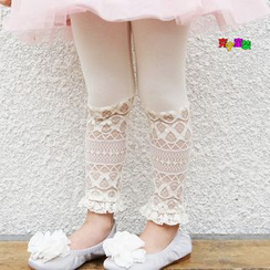 Cuckoo - Kids Lace Trim Leggings