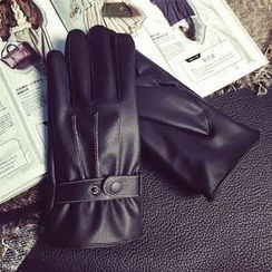 Pompabee - Faux Leather Gloves