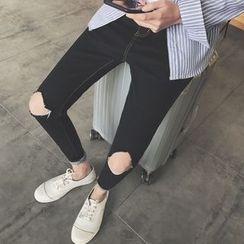 子俊 - 撕破修身牛仔裤