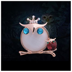 KINNO - 宝石猫头鹰胸针