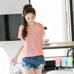OrangeBear - Patterned Top with Tank Top