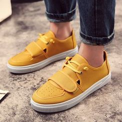 MARTUCCI - Lace-Up Velcro Canvas Sneakers