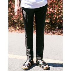 STYLEMAN - Cuff-Hem Tapered Dress Pants
