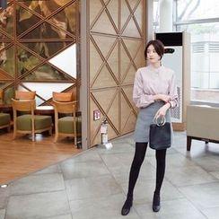 mimi&didi - Zip-Side Wrap-Front Mini Skirt