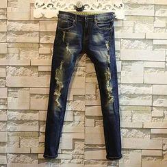 Sundipy - Distressed Skinny Jeans