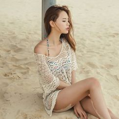 Sunset Hours - Crochet Lace Swimsuit Cover-Up