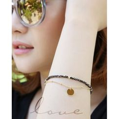 Miss21 Korea - Metallic-Charm Beads Bracelet