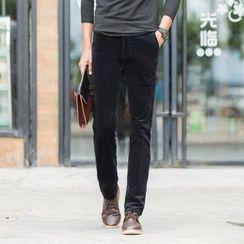 Denimic - Straight Leg Corduroy Pants