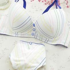 Aloysia - Set: Striped Bra + Panties