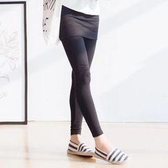 Forest Girl - Inset Skirt Leggings
