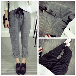 CosmoCorner - Plaid Drawcord Pants