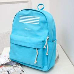 Crystal - Stripe Canvas Backpack