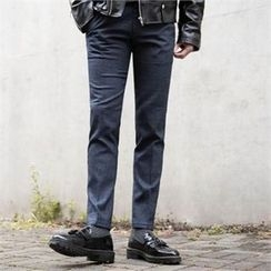 STYLEMAN - Check-Pattern Dress Pants