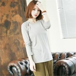 GLAM12 - Long-Sleeve Round-Neck T-Shirt
