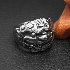 Andante - Titanium Steel Qilin Ring