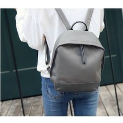Merlain - Set: Plain Backpack + Drawstring Bucket Bag