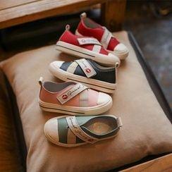 Hambu - Kids Lettering Velcro Sneakers