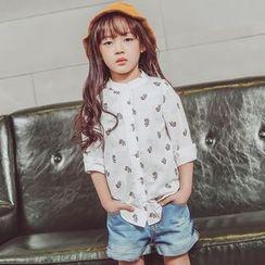 柠檬嘟嘟 - 小童图案长袖衬衫
