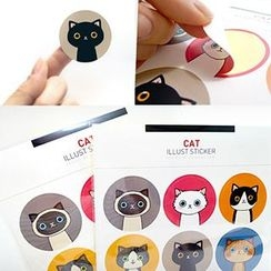Tivi Boutique - Cat and Rabbit Decoration Stickers