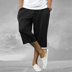 Mannmix - Drawstring Cropped Pants