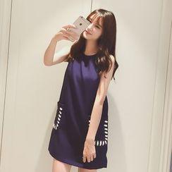 微米家 - 纯色无袖连衣裙