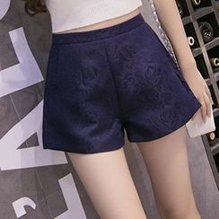 NINETTE - High-Waist Jacquard Shorts