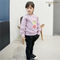 LILIPURRI - Kids Set: Brushed Fleece Lined Lettering Top + Sweatpants