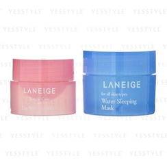 兰芝 - Goodnight Sleeping Care Kit: Water Sleeping Mask 15ml + Lip Sleeping Mask 3g