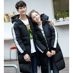 Dream Girl - Couple Matching Hooded Long Padded Jacket