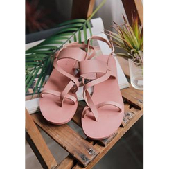 GOROKE - Toe-Loop Strappy Flat Sandals