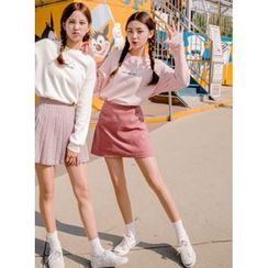 icecream12 - Inset Shorts A-Line Mini Skirt