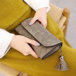 Rinka Doll - Tasseled Woven Long Wallet