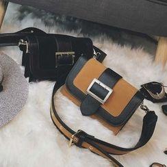 Nautilus Bags - Panel Buckled Shoulder Bag