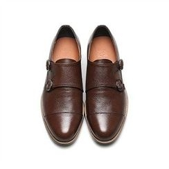 THE COVER - Genuine Leather Double Buckled Loafers