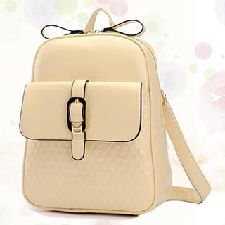 BeiBaoBao - Faux-Leather Belted Backpack