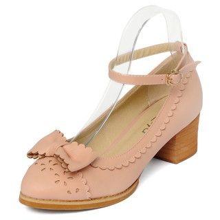 yeswalker - Block Heel Ankle-Strap Pumps