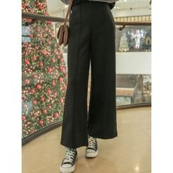 LOLOten - Band-Waist Wide-Leg Dress Pants