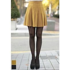 MyFiona - Band-Waist Pleated Mini Skirt