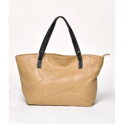 59 Seconds - Geometric Front Panel Tote