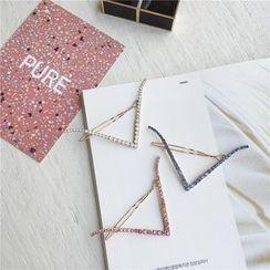 L for Love - 水钻山形纹发夹