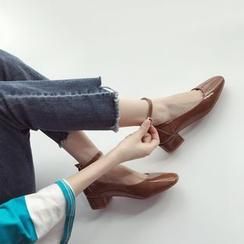 Linda Lane - Chunky-Heel Ankle-Strap Pumps