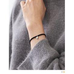 PINKROCKET - Rhinestone Faux-Suede Bracelet