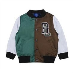 TWINSBILLY - Boys Lettering Color-Block Baseball Jacket