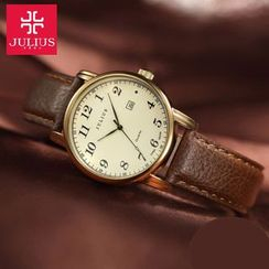JULIUS - Genuine Leather Strap Watch