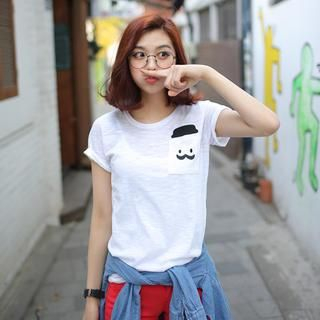 Envy Look - Round-Neck Print T-Shirt