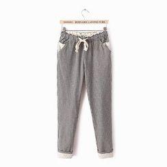 PANDAGO - Check Harem Pants